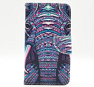 patrón de elefante el caso de tarjetas dentro de pintado para Samsung Galaxy Note 3