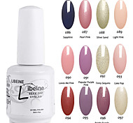 LIBEINE Soak Off 15 ML UV Gel Nail Polish Color Gel Polish Assorted Colors No.086-097