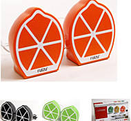 USB2.0 Mini Multimedia Speaker Stereo Lemon Fruit Speaker(A Pair)