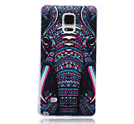 Elephant Pattern TPU Soft Back Cover Case  for Samsung Galaxy Note 4