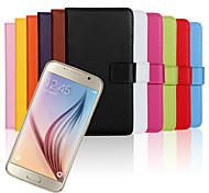 Mobile phone Holster Leather Purse for Samsung Galaxy S6 G9200 (Assorted Color)