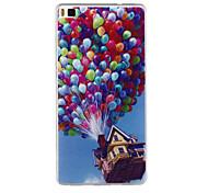 casa balloon modello TPU custodia morbida per Huawei Ascend p8