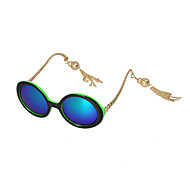 Women Lantern Round Frame Sunglasses