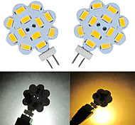 3W G4 LED Doppel-Pin Leuchten 9 SMD 5730 100-150 lm Warmes Weiß / Kühles Weiß DC 12 V 2 Stück