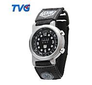 TVG maschio Led Display + bussola cinghia telo impermeabile orologi militari