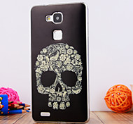 The Skeleton Design TPU Soft Case Cover for Huawei Mate 7