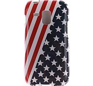 el caso suave de la bandera americana de diseño TPU para samsung galaxy tendencia dúos s7562