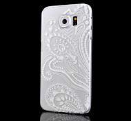 weiß Druckmuster transparente Druck PC-Material-Telefonkasten für Samsung-Galaxie s6