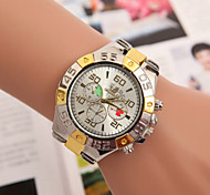 relojes de los hombres europa y los estados unidos de venta de acero de aleación tendencia entretenimiento reloj de cuarzo suizo