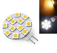 1 pcs Ding Yao G4 5W 12X SMD 5730 300-400LM 2800-3500/6000-6500K Warm White/Cool White Bi-pin Lights AC 220-240V