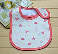 New Baby Cotton Heart-shaped Pattern Bib (Random Pattern)