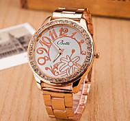 relógios de forma relógio cinto flor das mulheres