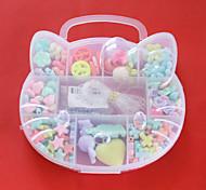 Acrylperlen sortiert Frühjahr Farbe und Form in Kunststoff-Box scherzt Spielzeuggeschenk diy Perlen passen Halskette Armband Schmuck