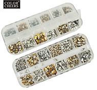 1200pcs mixs modèle rivet Décorations Nail Art