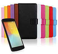 LG F60 Plastic / Genuine Leather Full Body Cases / Cases with Stand Special Design case cover