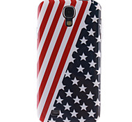 Red Striped Black Star Pattern TPU Soft Case for S4 I9500