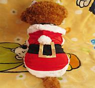 Собаки Толстовки Красный Одежда для собак Зима Рождество