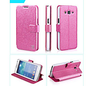 Smooth Silk Pattern with Card Bag PU Full Body Case for Samsung Galaxy Grand 2 G7106(Assorted Color)