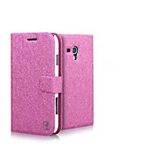Smooth Silk Pattern with Card Bag PU Full Body Case for Samsung Galaxy Core I8262(Assorted Color)
