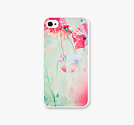 Were Blossoming Flower Pattern PC Phone Case Back Cover for iPhone4/4S Case