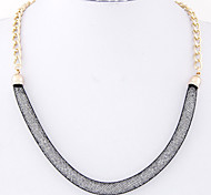 Necklace Choker Necklaces Jewelry Party / Daily Fashion Alloy / Rhinestone Gold / Light Pink / Black / Red 1pc Gift