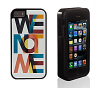 We Not We Pattern 2 in 1 Hybrid Armor Full-Body Dual Layer Shock-Protector Slim Case for iPhone 5/5S