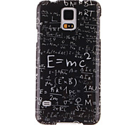 For Samsung Galaxy Case Pattern Case Back Cover Case Word / Phrase TPU Samsung S5 Mini
