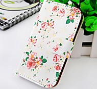 Peony Figure Around Wallet Stand PU Leather Case For Samsung Galaxy S2 SII I9100