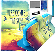 coco fun® modello sole uccello pu custodia in pelle con la pellicola e lo stilo per la galassia giovane 2 G130