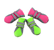 Dog Socks & Boots - S / M / L / XL - Spring/Fall - Green / Pink Mixed Material