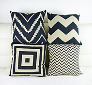 style rétro taie d'oreiller de jet taie housse de canapé décoration de la maison de coussin (16 * 16 pouces)