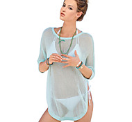 Women's Fashion Knitting Cotton Swimwer Bikini Beach Cover Up Sun Prevention Mini Dress