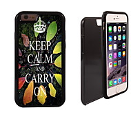 Keep Calm and Carry On Design 2 in 1 Hybrid Armor Full-Body Dual Layer Shock-Protector Slim Case for iPhone 6