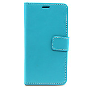 LG L70 PU Leather / TPU Full Body Cases / Cases with Stand Solid Color / Other case cover