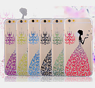 diamantes de dança borboleta volta para o iphone 5 / 5s (cores sortidas)