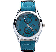 New Fashion Brand Men's Casual Sports Watches 2015 Quartz Watch PU Strap Men's Watches