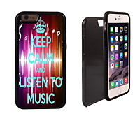 Listen To Music Design 2 in 1 Hybrid Armor Full-Body Dual Layer Shock-Protector Slim Case for iPhone 6