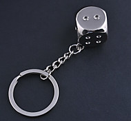 Stainless Steel Dice Key Chain Car Ring Keyring