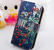 Red Flowers Around the Tree Wallet Stand PU Leather Case For Samsung Galaxy S2 SII I9100