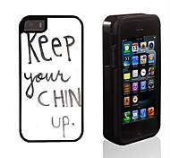 chin up design 2 em 1 armadura híbrido de corpo inteiro dual layer-choque protetor caso fino para iPhone 5 / 5s