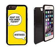 Make Mistakes Design 2 in 1 Hybrid Armor Full-Body Dual Layer Shock-Protector Slim Case for iPhone 6
