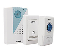 Doorbell 2 Transmitter 1 Receiver,Digital Wireless Music Door bell DC Operating Remote Control 38 Melody Cordless Songs