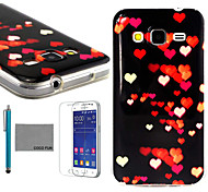 COCO FUN® Love Night Pattern PU Leather Case with Screen Protector and Stylus for Samsung Galaxy Core Prime G360