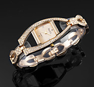 Luxury Fashion Crystal Bling Rhinestone Women Lady Wrist Quartz Bracelet Bangle Watch Skeleton Band