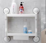 мощный присоски ванная комната / кухня стеллаж для хранения / полки два слоя с ящиком