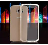 diseño especial de alta calidad paragolpes color de metal sólido transparente TPU para Samsung s6