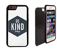 Unique Be Kind Design 2 in 1 Hybrid Armor Full-Body Dual Layer Shock-Protector Slim Case for iPhone 6