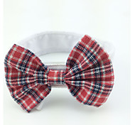 Classic Check Pattern Bow Tie  Collar for Dogs and Cats (Assorted  Sizes)