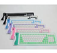 tastiera pieghevole usb silicone ew-107b per iPad e altri (colori assortiti)
