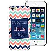 genießen Sie die kleinen Sachen Design Aluminium-Hülle für das iPhone 5/5 s
